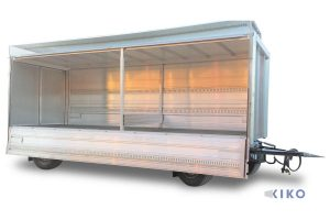 KIKO 10 Anhänger mit Türen, Unterwand aus Alu mit Zurrleisten und CRS light