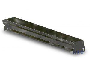 Rückwandträger komplett mit Anschraubplatten für Außenrahmenhöhe 140 bzw. 160 mm.